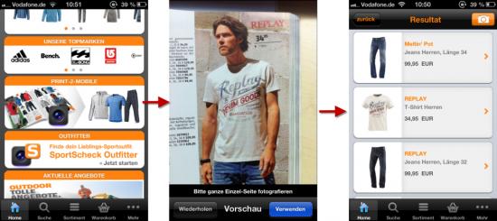 SportScheck-App Scanfunktion
