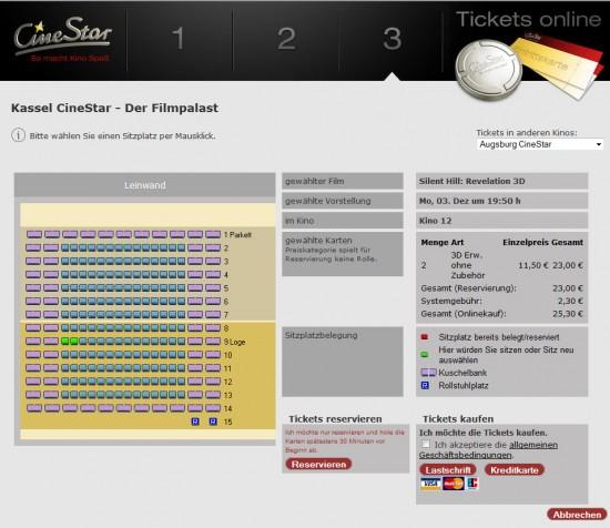 Platzwahl Cinestar