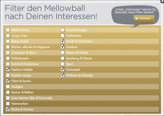 Mellowball Interessen