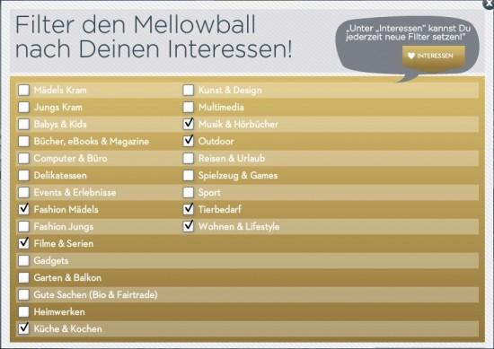 Mellowball Interessen