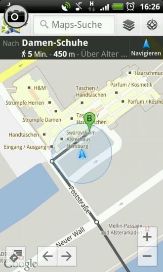 Navigation zum Gebäude