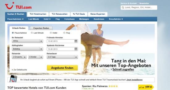 TUI.com 2013