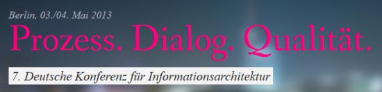 7. Deutsche Konferenz für Informationsarchitektur