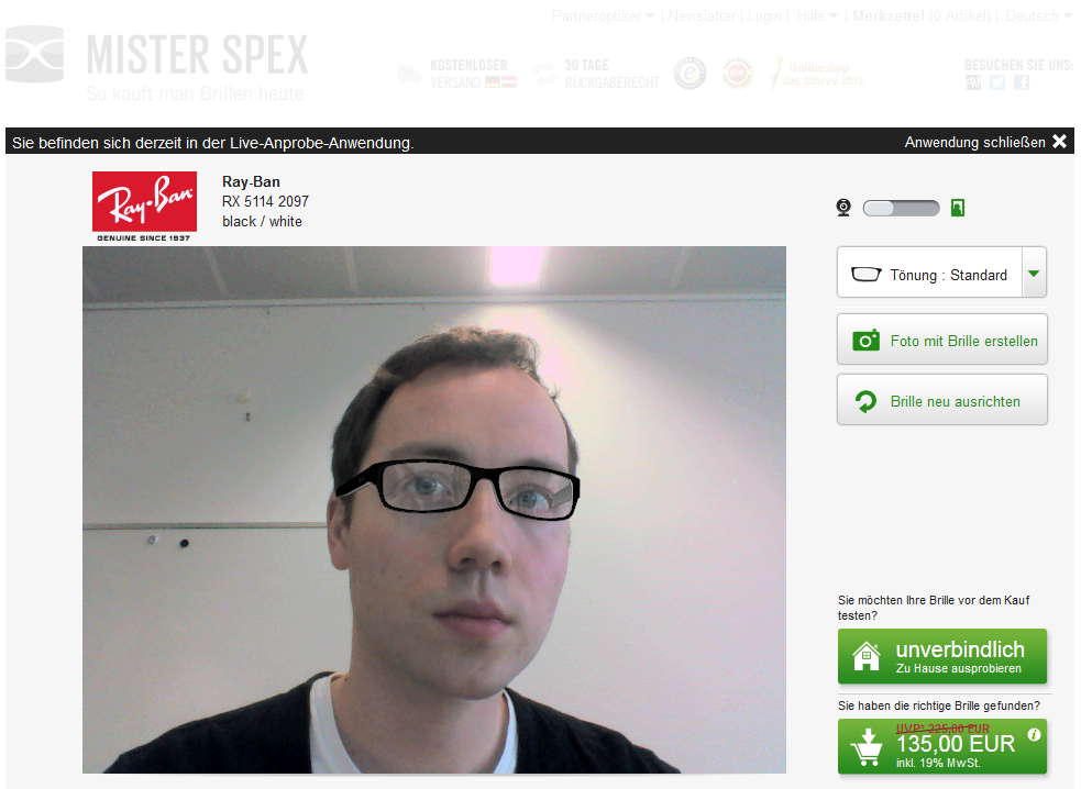 564b1c126351d0 Virtuelle Anprobe par excellence – Brillenkauf bei Mister Spex ...