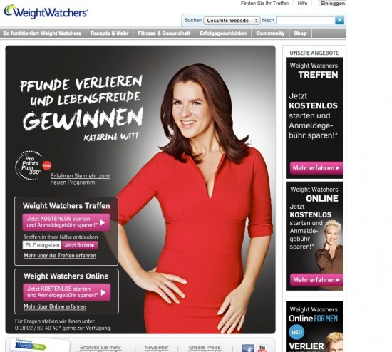 Weight watchers online und treffen