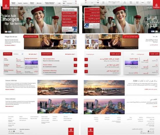 Startseite Emirates für Deutschland und Ägypten