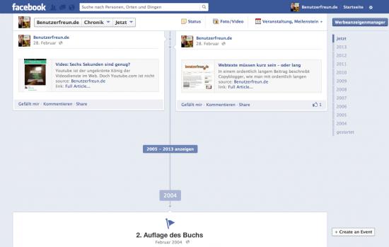 Die Facebook-Chronik