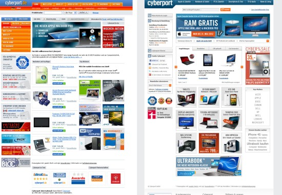 cyberport.de 2007und 2013