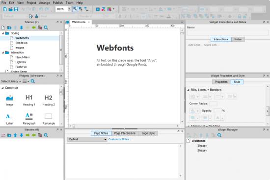 """Abb. 1: Axure RP 7 kommt in neuem """"Flat Design"""" und mit vielen neue Features daher"""