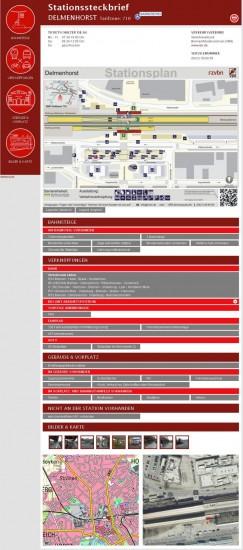 Stationssteckbrief für alle Bahnhöfe auf der Website des VBN