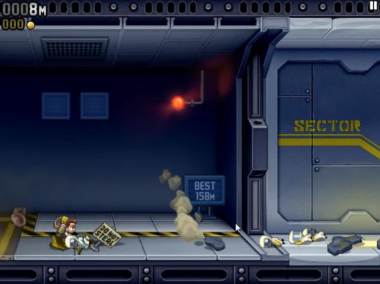 Abb. 1: Ein Klick, die Wand links explodiert und man ist mitten im Spielgeschehen