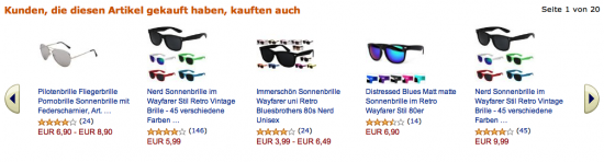 Screenshot Produktseite Amazon