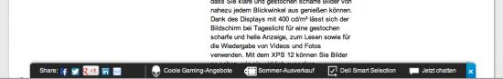 Screenshot Seitenende Dell