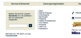 Screenshot Hawesko.de