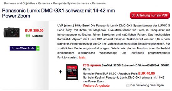 Screenshot Website wex.de Breadcrumbs