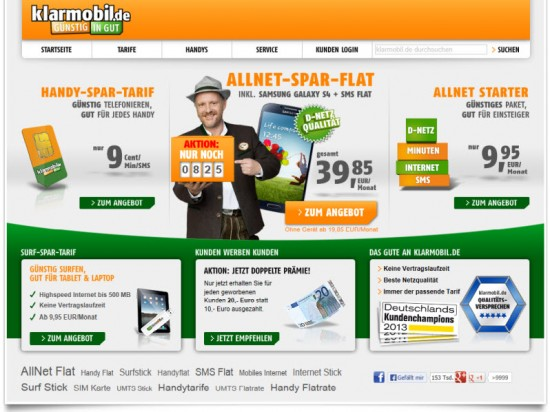 klarmobil Screenshot
