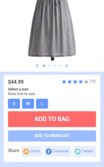 modcloth.com: Merkfunktion, für den Fall dass der Kauf verschoben werden soll