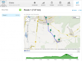 Runkeeper Website Routenplanung