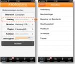 Abb. 3: Filterfunktionen & Einstiegslevel-Filter von JobStairs