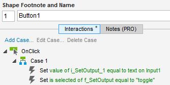 """Abb. 3: Ein Klick auf Button1 ruft die Funktion """"f_SetOutput"""" auf"""