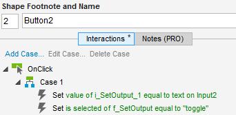"""Abb. 4: Ein Klick auf Button2 ruft ebenfalls die Funktion """"f_SetOutput"""" auf, jedoch mit anderem Eingabewert"""