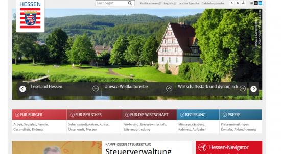 Startseite von hessen.de
