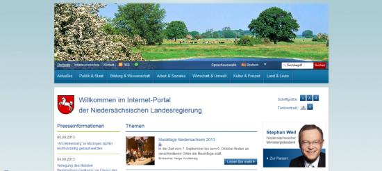 Startseite von niedersachsen.de