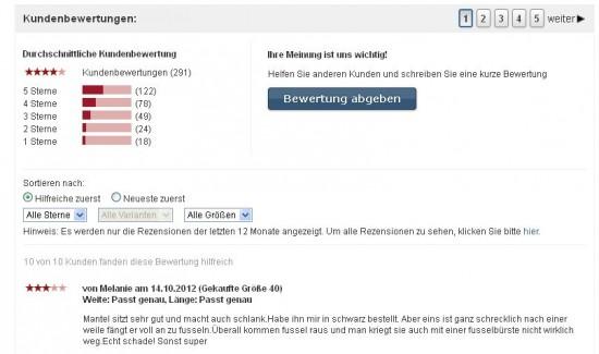 Prominenter Button und direkte Nutzeransprache bei bonprix.de