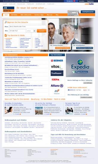 Abb. 2: Jobscout24.de im Jahre 2013