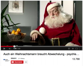 Screenshot Video Weihnachtsmann