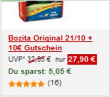 Abb. 2: fressnapf.de hebt den rabattierten Preis gut hervor und zeigt direkt, wie viel der Nutzer sparen kann