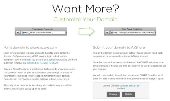 """Abb. 1: Unter """"Branding"""" lässt sich eine eigene Domain für AxShare konfigurieren"""