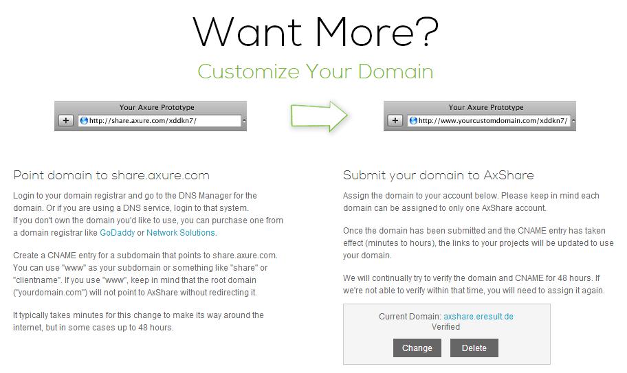 Eigene Domain eigene domains für axshare verwenden axure branding teil 1 3
