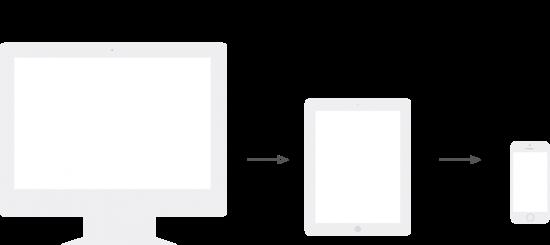 Skizze herkömmliches Webdesign