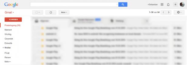 Abb. 8: Dezenter Einsatz von Gestaltungsmitteln zur Tiefenwahrnehmung bei Google
