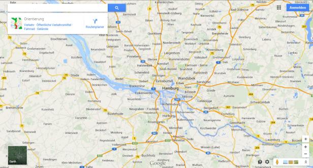 Abb. 9: Verwendung leichter Schlagschatten bei Google Maps