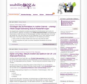 Screenshot Usabilityblog.de bis 2014