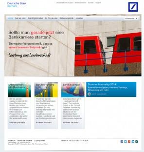 Abb. 2: Das Karriereportal der Deutschen Bank