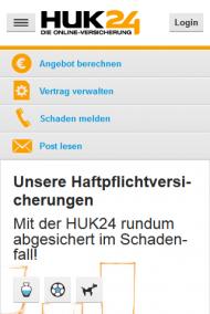 Abb. 1: Der Aufruf der Hauptnavigation auf huk24.de ist nicht für alle Nutzer verständlich