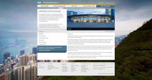 Abb. 1: Das Karriereportal von SAP