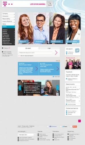 Abb. 3: Das Karriereportal der Deutschen Telekom