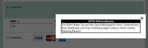 Abbildung 2 - Abfrage IBAN - Hinweis-Layer (alt)