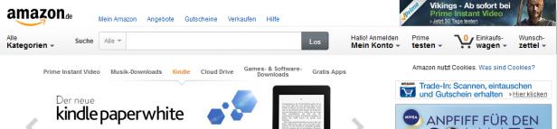Abb. 2: Startseite amazon.de (Juni 2014)