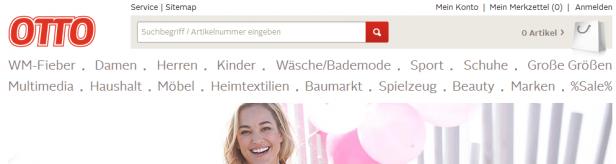 Abb. 3: Startseite otto.de (Juni 2014)