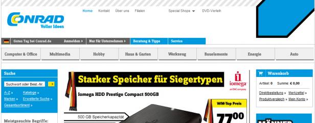 Abb. 5.2: Startseite conrad.de (2010)