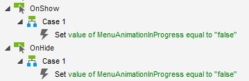 Abb. 5: Das Setzen der globalen Variable für die Menü-Animation
