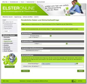 Screenshot Elster Online
