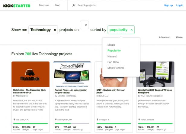 Website Kickstarter