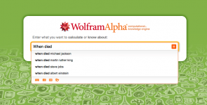 Screenshot Website WolframAlpha