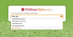 Screenshot Website WolframAlpha